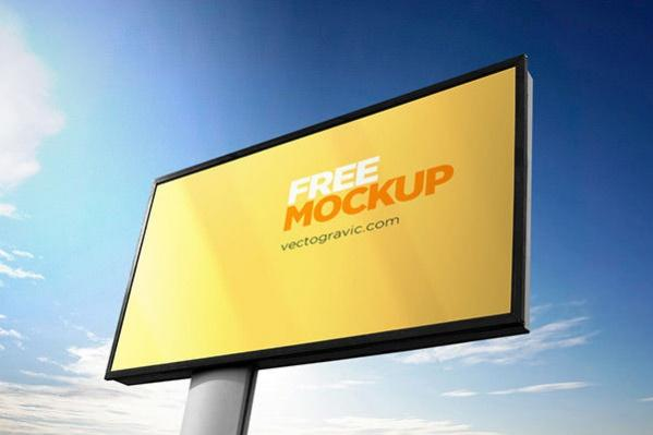 outdoor_sign_advertising_mockup_psd_in_4_unique angles