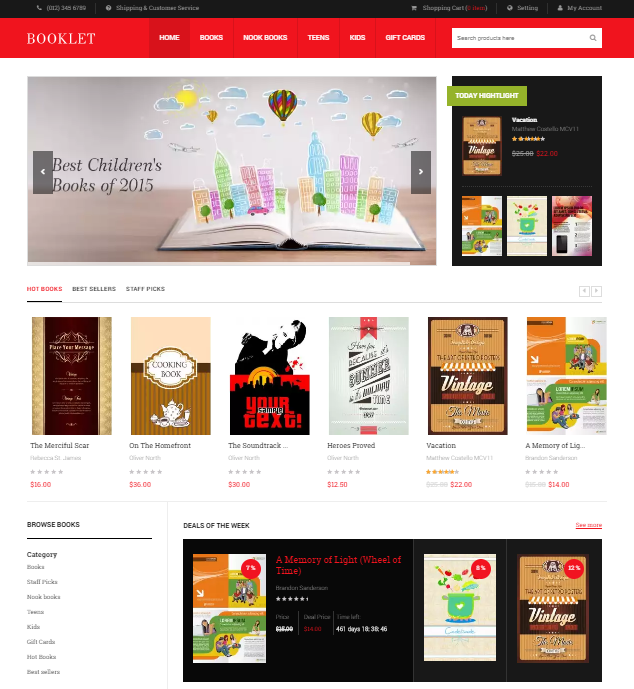 Book store magento theme download