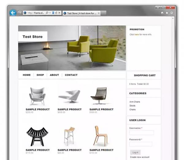Frame Drupal ecommerce theme