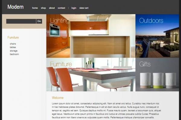 Modern online store drupal theme
