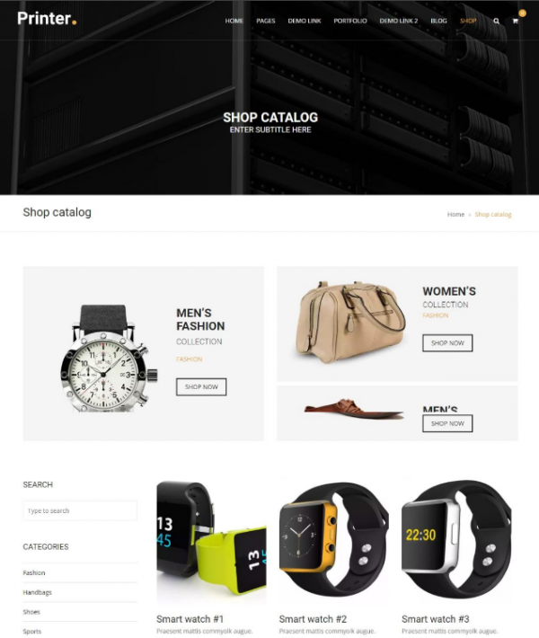 Printer Drupal Commerce Themes