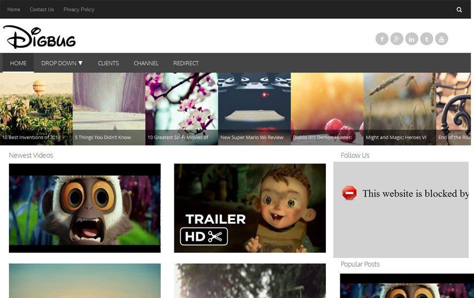 30+ Best & Free Video Blogger Template | UTemplates