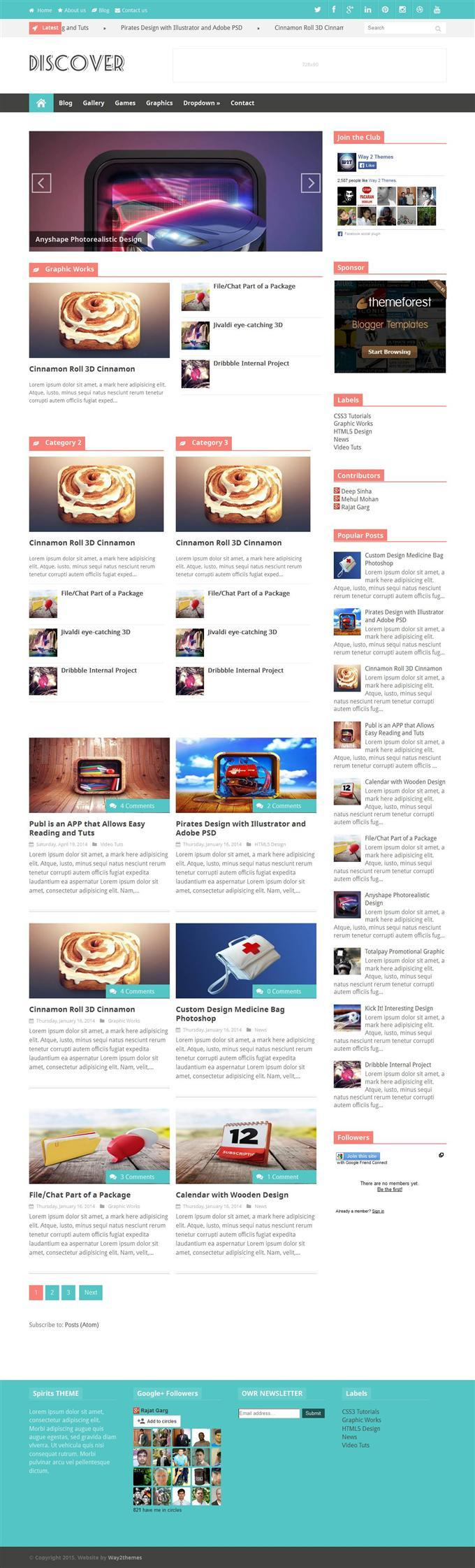 discover_responsive_blogger_template