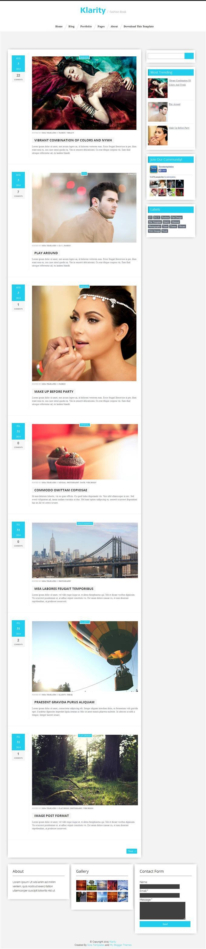 klarity_responsive_personal_blog_blogger_template