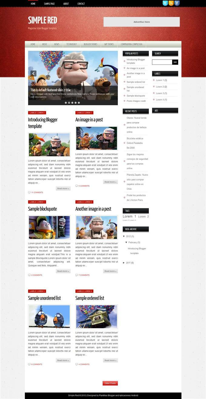 simple_red_responsive_personal_blog_blogger_template