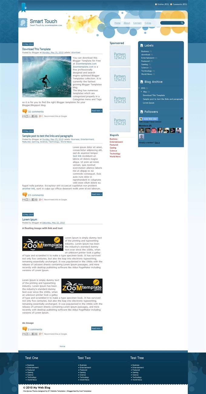 smart_touch_blogger_templat