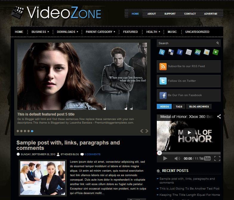 videozone_video_blogger_template