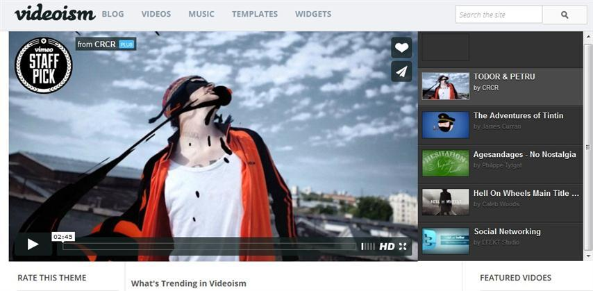 videoism_blogger_template