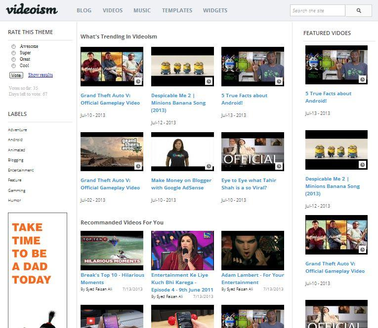 videoism_video_blogger_template