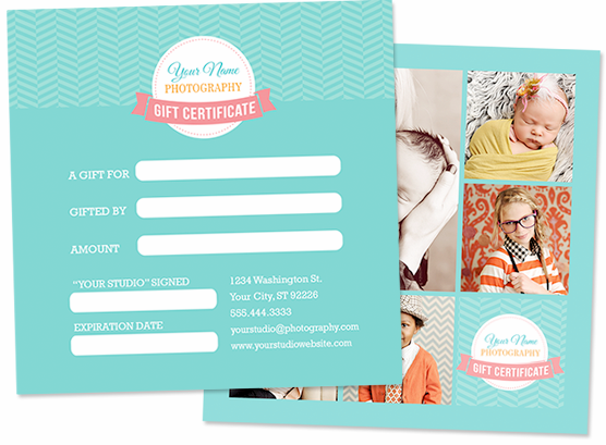 5x5 Gift Certificate Template