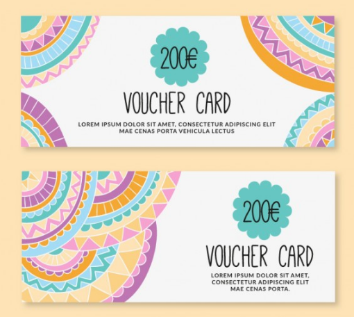 Colorful Euro Gift Certificate Template