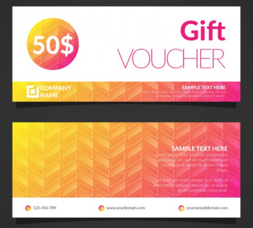 Colorful Gift Certificate Template