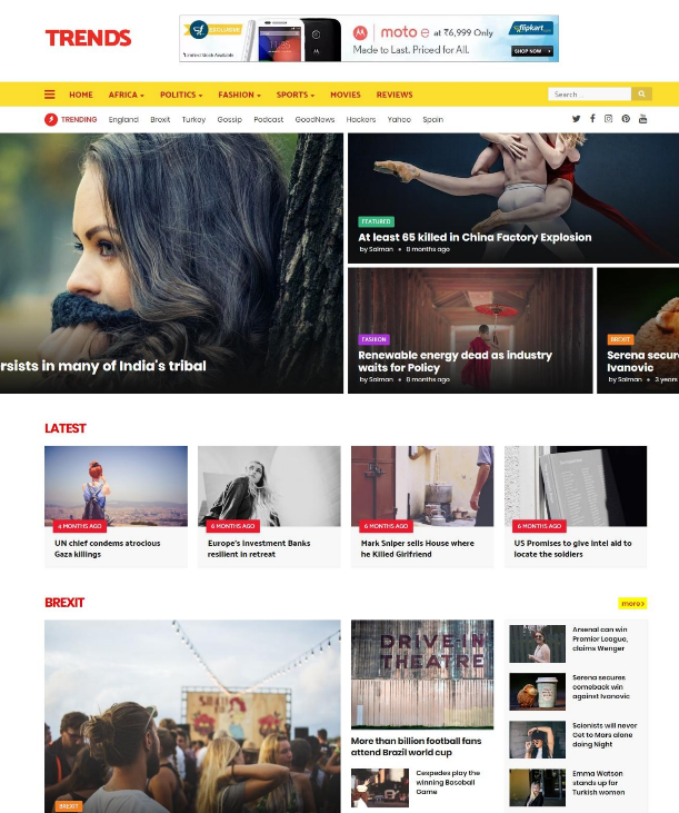 27trends Responsive Blogger Template