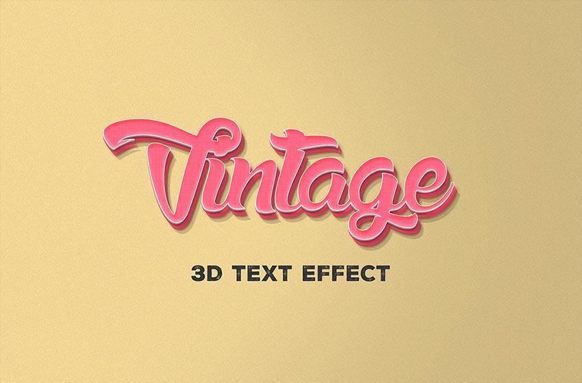 3d_text_effect_vintage_style