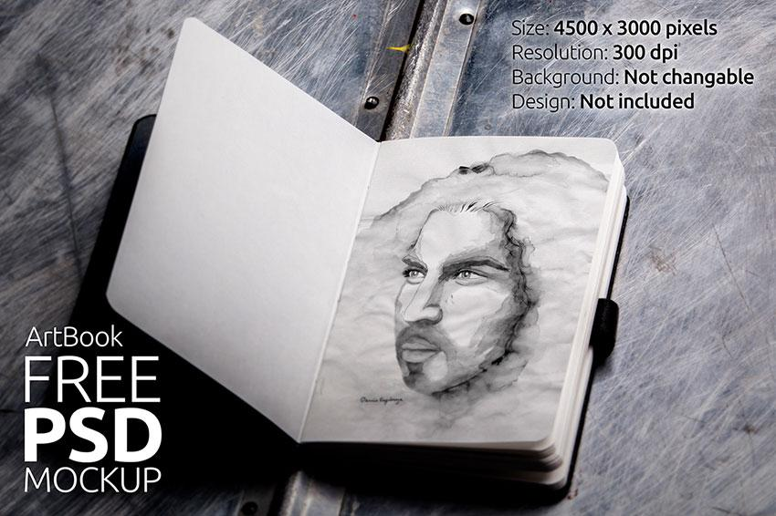 realistic_art_sketchbook_mockup
