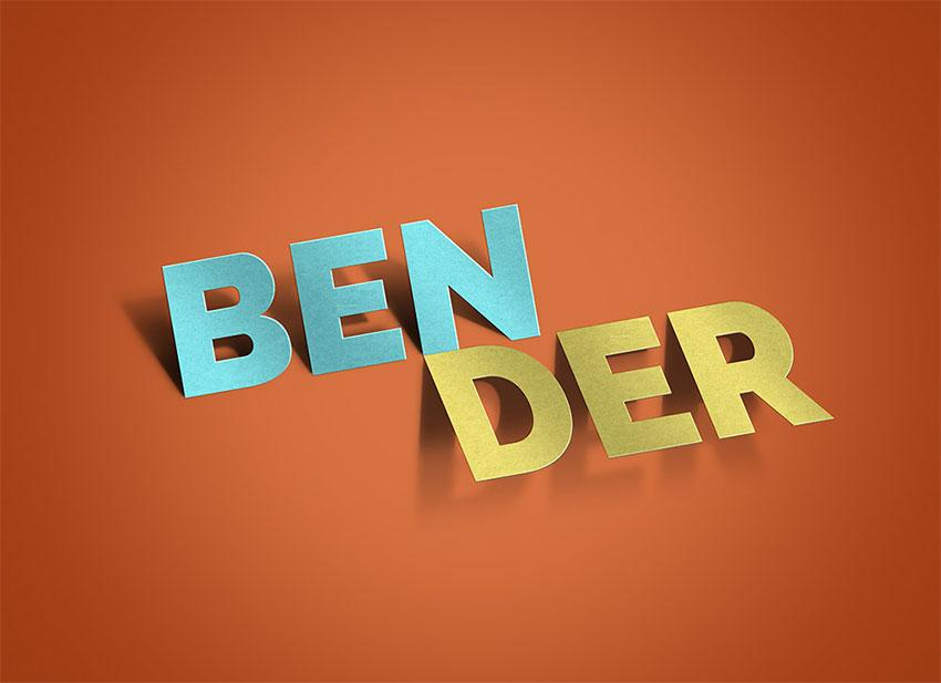 bender_text_effect