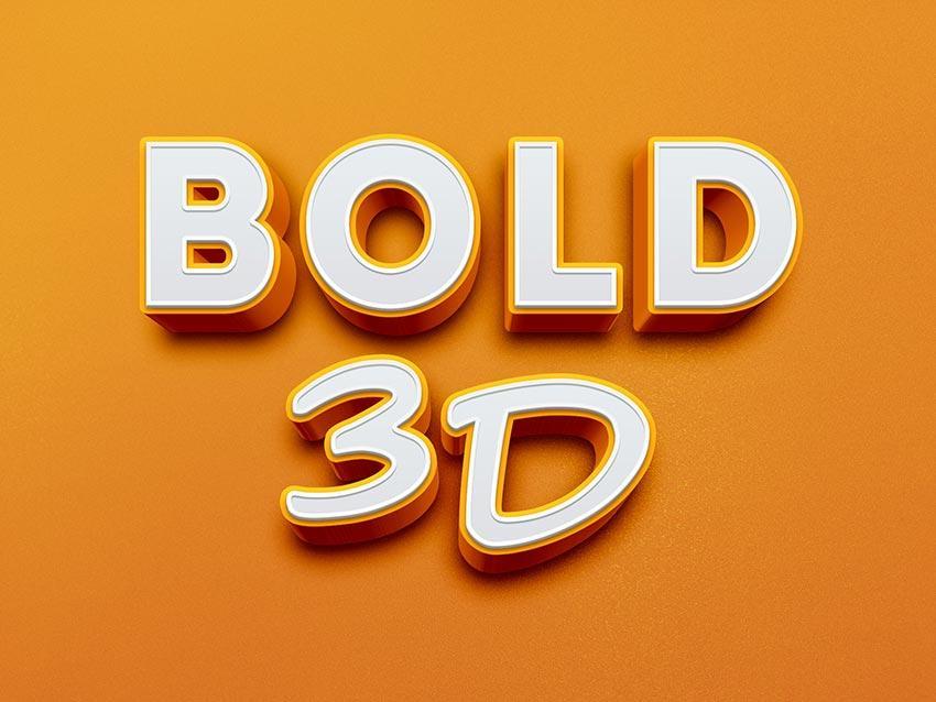 bold_3d_text_effect