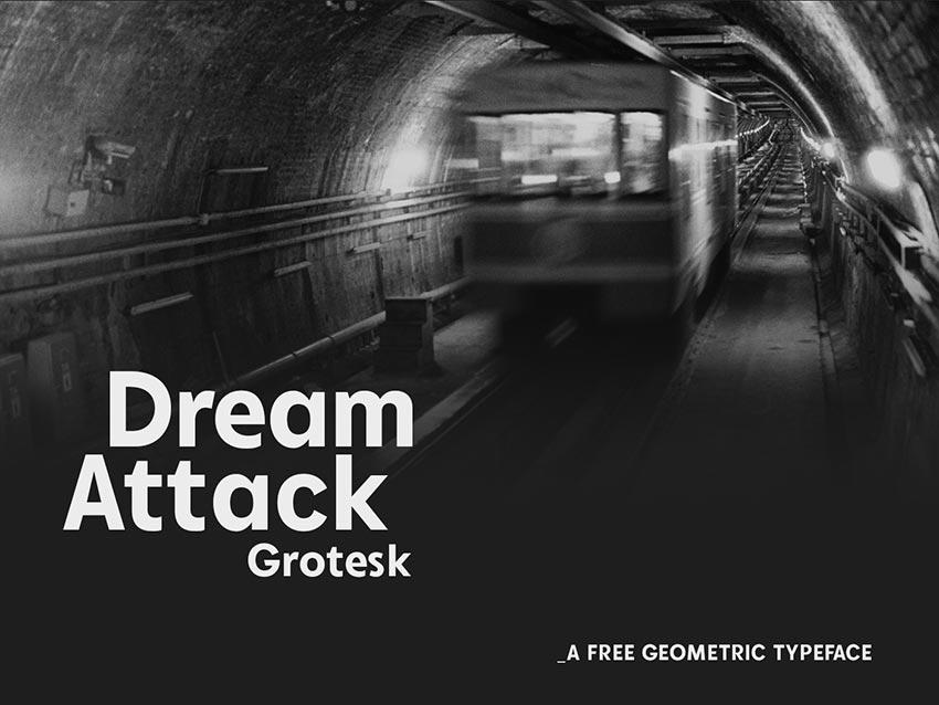free_font_dream_attack_grotesk