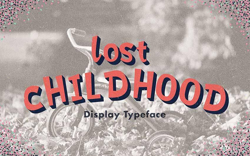 free_font_lost_childhood