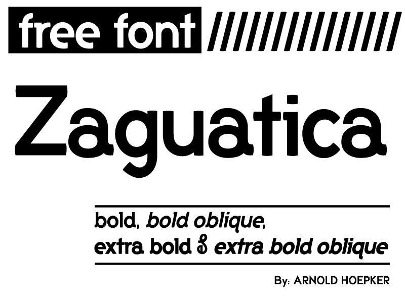 zaguatica_free_font