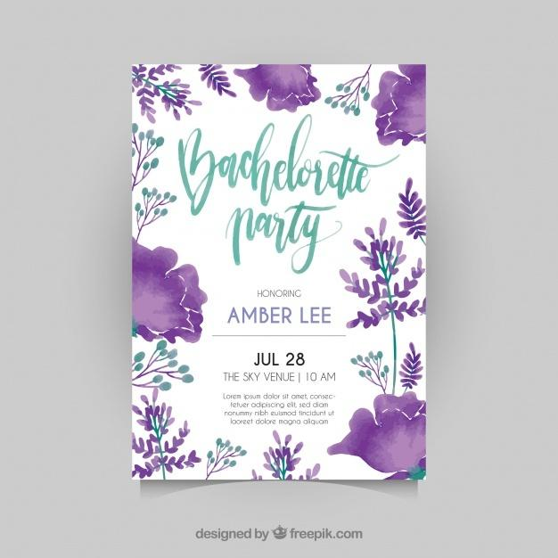 bachelorette_invitation_with_watercolor_flowers