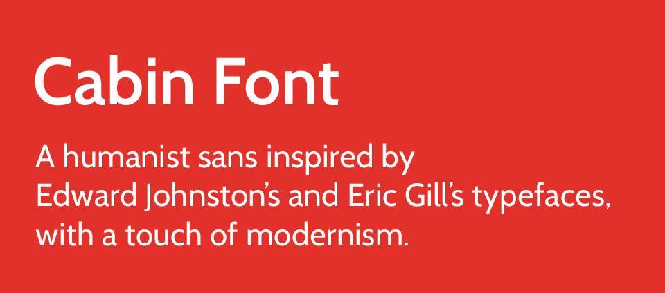 cabin_font