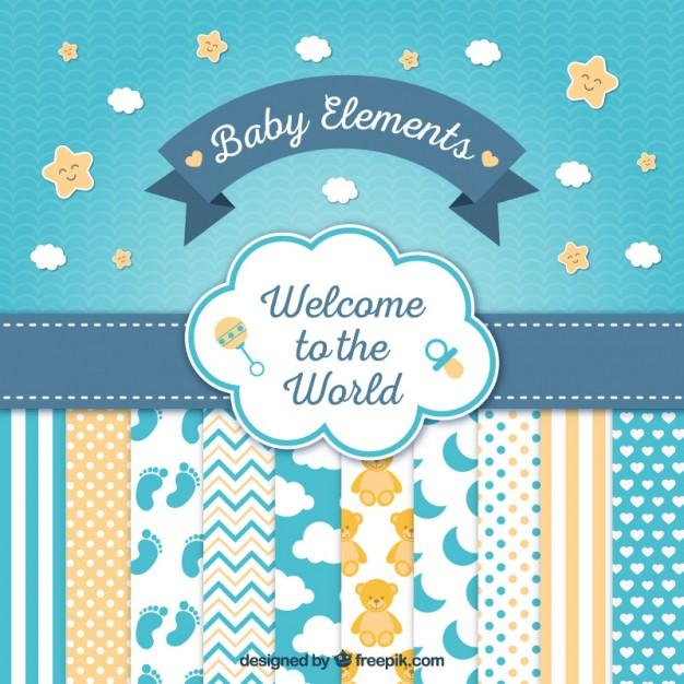 cute_baby_shower_card_with_nice_elements