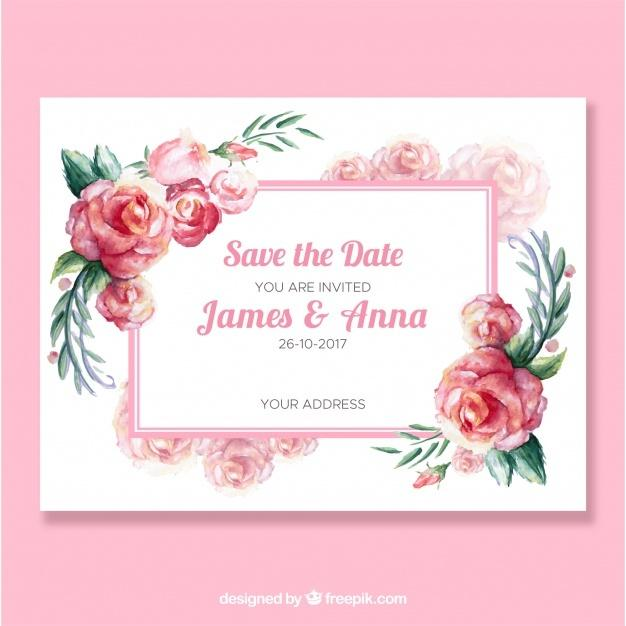 free_cute_wedding_invitation_with_watercolor_roses