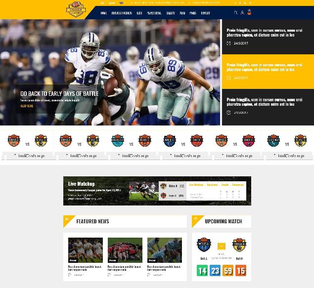 5 American Football Html Website Templates Utemplates