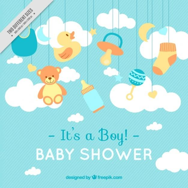 lines_background_with_baby_shower_items