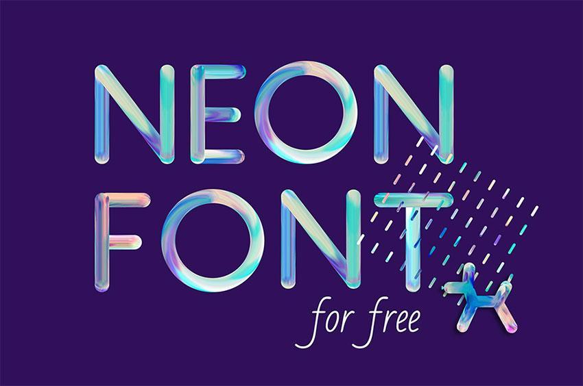 free_neon_font