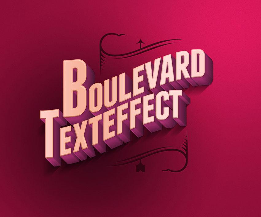 boulevard_retro_text_effect