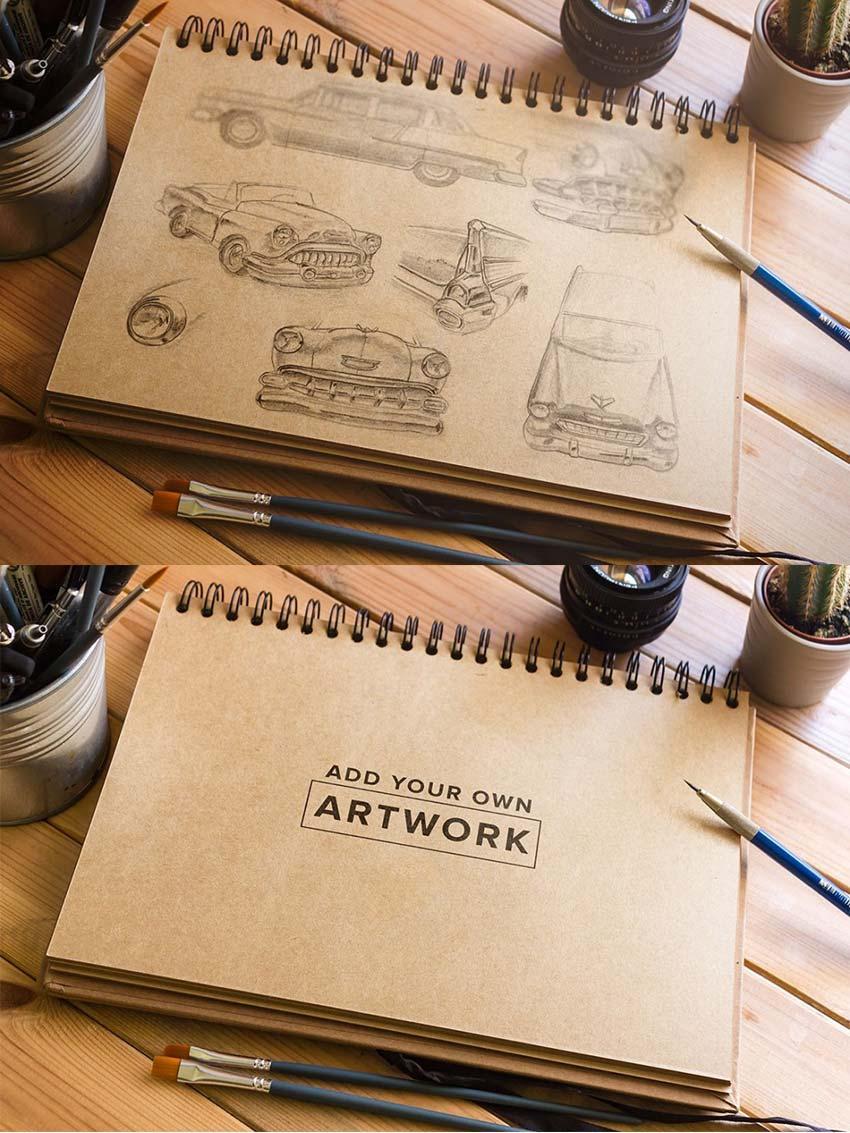 realistic_sketchbook_mockup