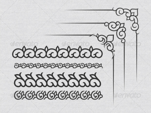 clean_calligraphic_vector_set_for_certificates_borders