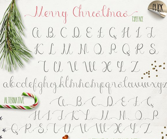 glyphs_merry_christmas_fonts