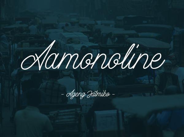 aamonoline_minimalist_font