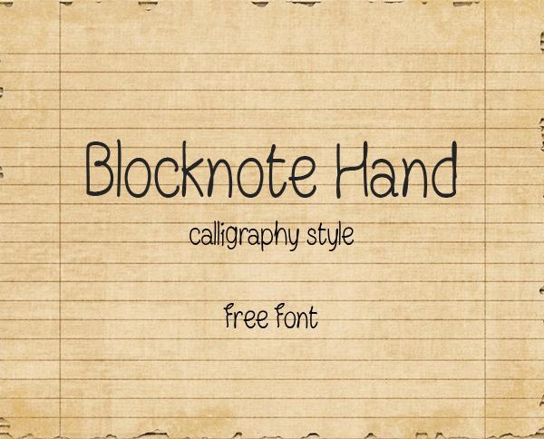 blocknote_hand_minimalist_font
