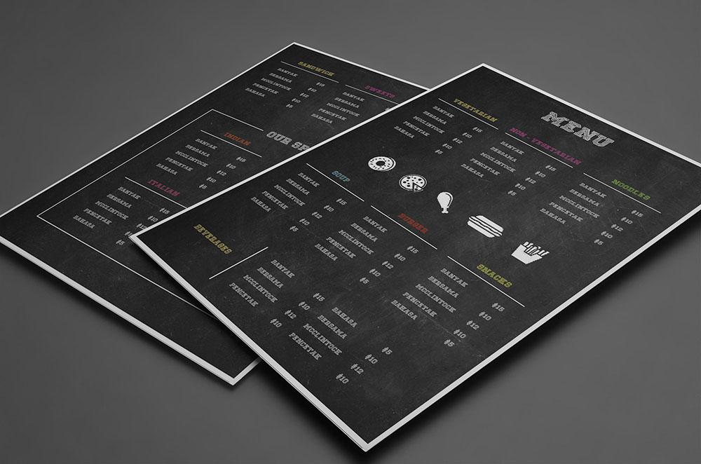 black_restaurant_menu template