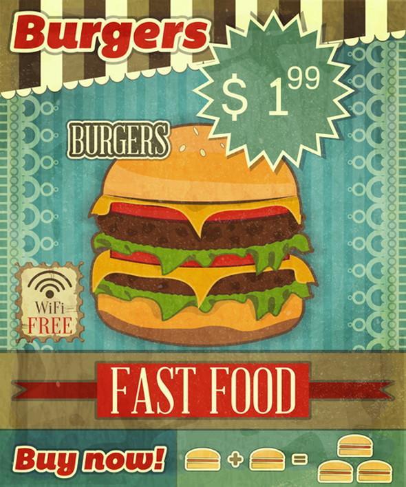vintage_fast_food_with_menu_vector