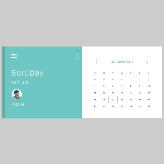 free_material_html5_css3_calendar_template