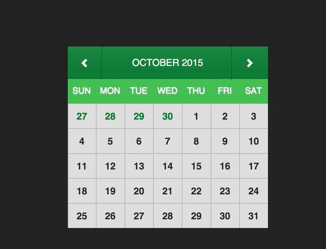free_minimal_html5_css3_calendar_widget