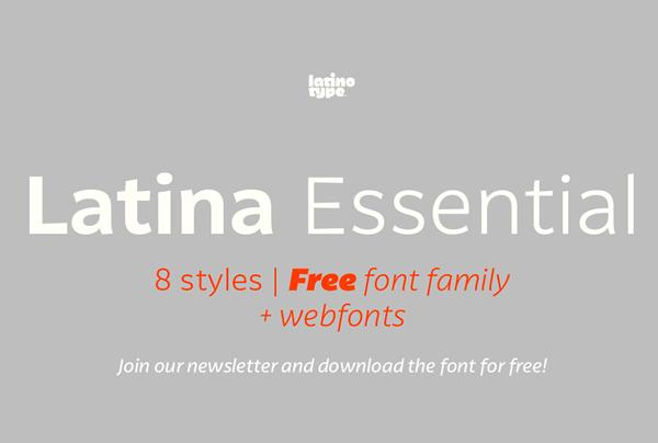 latina_essential_font