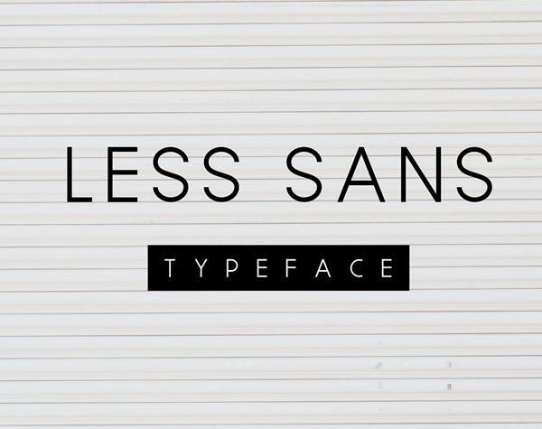 less_sans_minimal_font