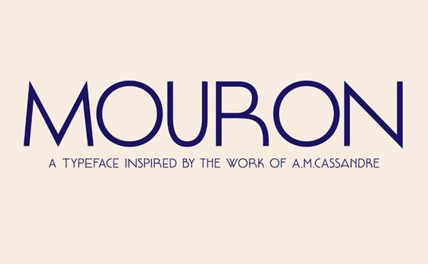 mouron_font