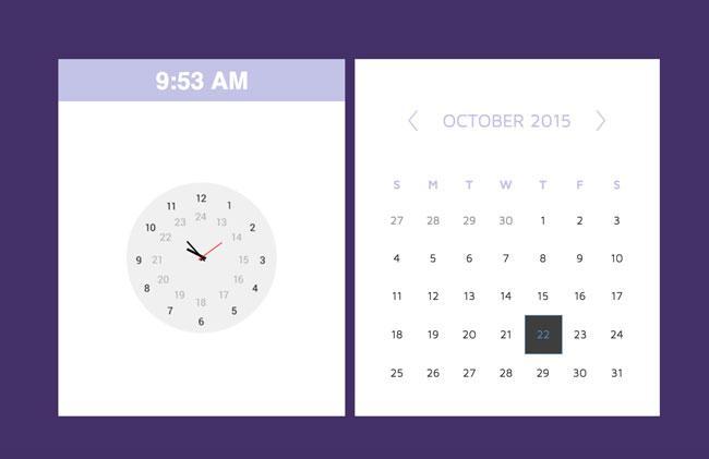 responsive_html5_css3_calendar_&_clock_widget