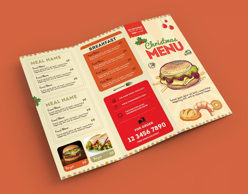 60 awesome restaurant menu templates design utemplates for Free food brochure templates