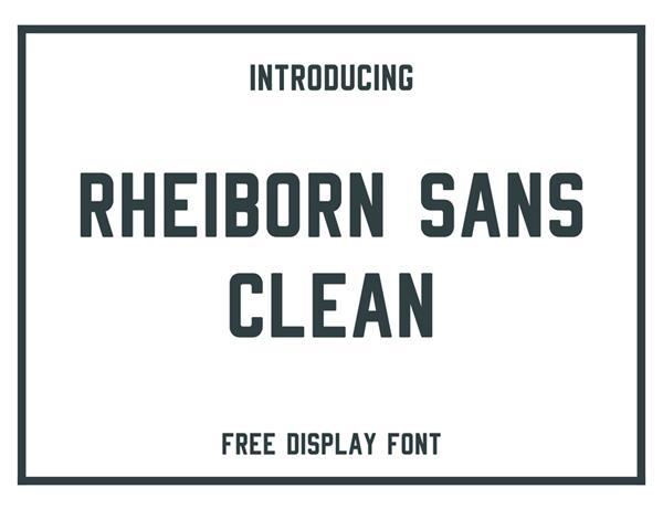 rheiborn_sans_font