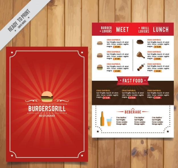 burger_red_menu_template