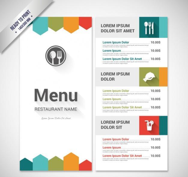 colorful_menu_template
