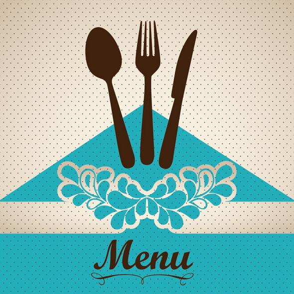 creative restaurant menu cover_vector
